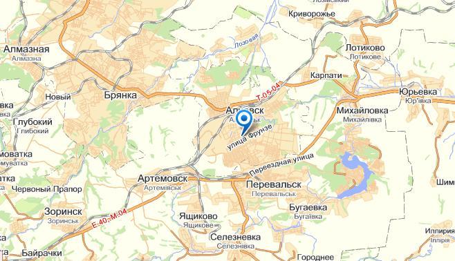Алчевск где находится