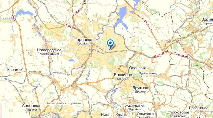 Горловка на карте