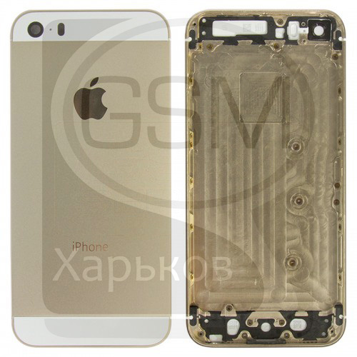 Корпус Apple iPhone 5S, светло-золотистый, оригинал (Китай), (панель, панели)