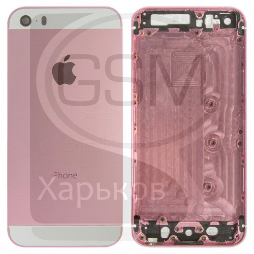 Корпус Apple iPhone 5S, розовый, оригинал (Китай), (панель, панели)