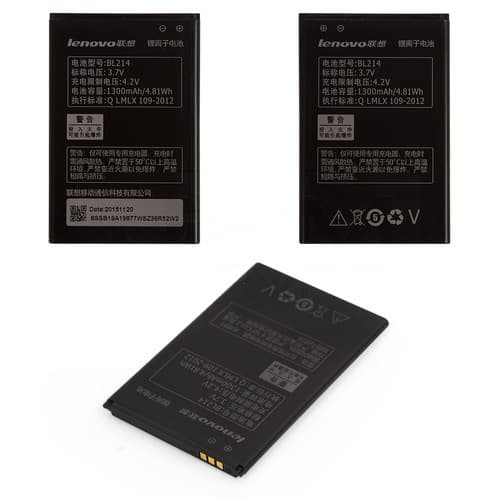 Аккумулятор Lenovo A208T, A218T, A238T, A269, A269i, A300T, A316, A316i, A318, A369, A369i, BL214, 1300 mAh, Li-ion, 3.7 V | 12 мес. гарантии