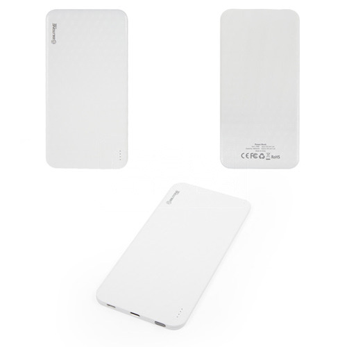 Bilitong Y098 - Power bank, белый, 4600 mAh, slim, USB выход 5V 1,5A, с кабелем для apple iphone 5, с micro-USB кабелем