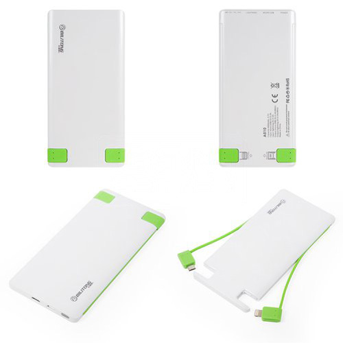 Bilitong A010 - Power bank, белый, 5000 mAh, USB-выход 5В 2А